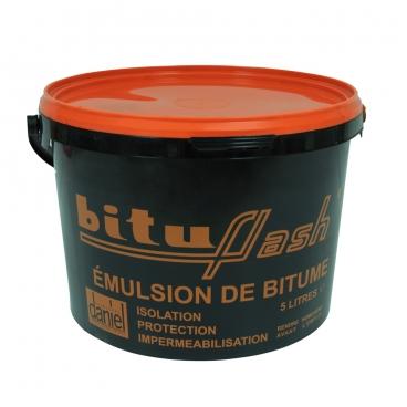 Bitume étanchéité imperméabilisant maçonnerie, bois, métaux, cuves, bassin, piscine,  fondations, sols, BITUFLASH - PROCOM