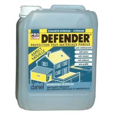 Imperméabilisant hydrofuge anti tache tous supports, terrasses, sols, murs, toitures, DEFENDER aspect mouillé