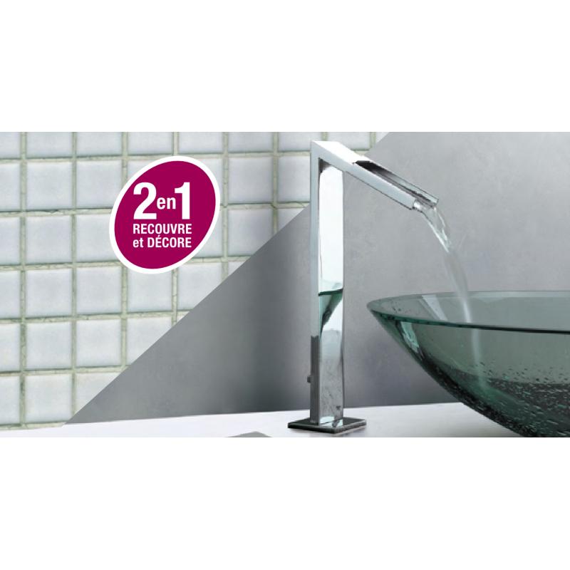 enduit carrelage salle de bain cuisine sans sous couche recouvre les joints lisse et d core. Black Bedroom Furniture Sets. Home Design Ideas