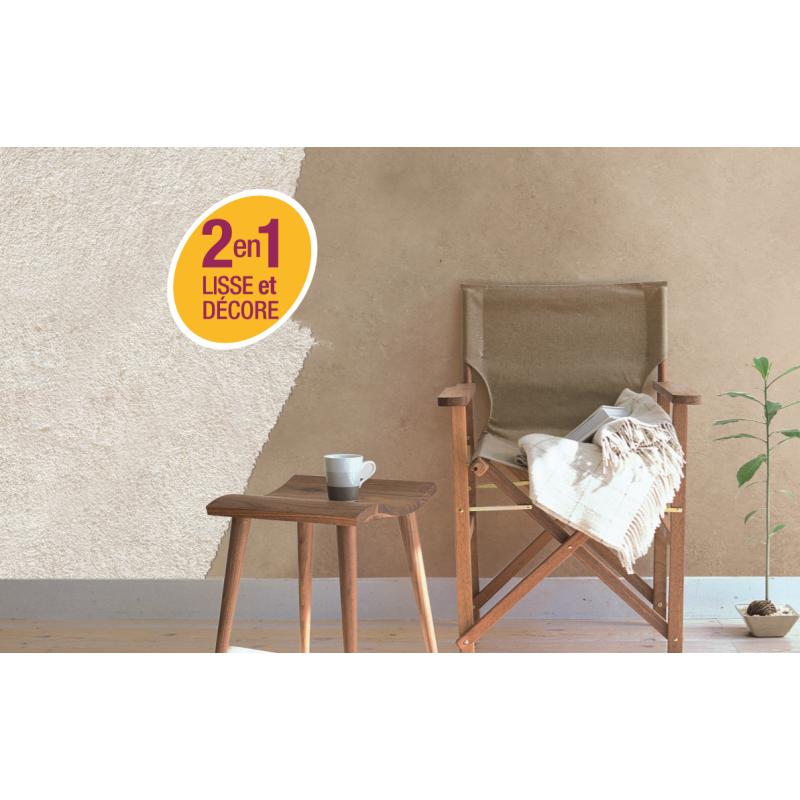 enduit d coratif r novation rapide 2 en 1 lisse et d core sur pl tre peintures cr pis. Black Bedroom Furniture Sets. Home Design Ideas
