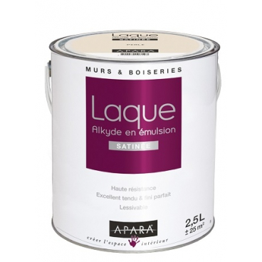 Peinture laque satinée pour murs et boiseries
