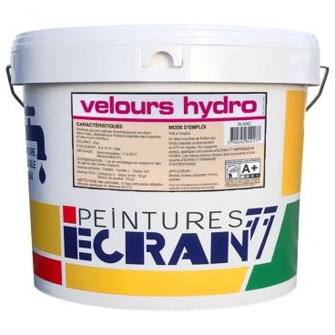 Peinture professionnelle alkyde, velours, pour murs et plafonds, blanc, VELOURS HYDRO - ECRAN 77